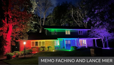 The house in Racine, Wisconsin, belonging to Memo Fachino and his husband Lance Mier
