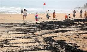 Tourists hit the Beach on Tarball hit Beaches in Goa despite the Red Flag